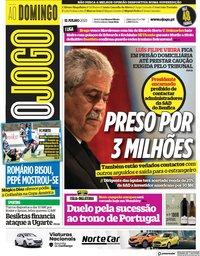 capa Jornal O Jogo de 11 julho 2021