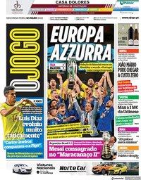 capa Jornal O Jogo de 12 julho 2021