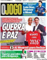 capa Jornal O Jogo de 14 julho 2021