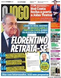 capa Jornal O Jogo de 17 julho 2021