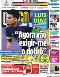 capa Jornal O Jogo de 19 julho 2021