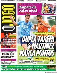 capa Jornal O Jogo de 22 julho 2021