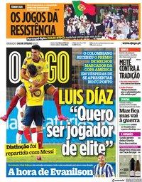 capa Jornal O Jogo de 24 julho 2021