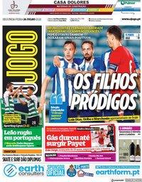 capa Jornal O Jogo de 26 julho 2021