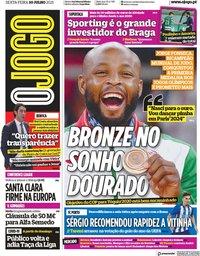 capa Jornal O Jogo de 30 julho 2021