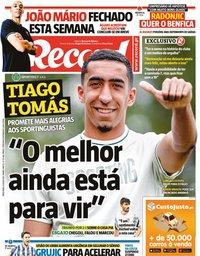 capa Jornal Record de 6 julho 2021