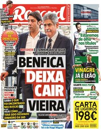 capa Jornal Record de 9 julho 2021