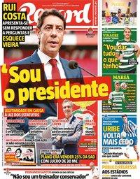 capa Jornal Record de 10 julho 2021