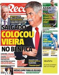 capa Jornal Record de 13 julho 2021