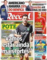 capa Jornal Record de 14 julho 2021