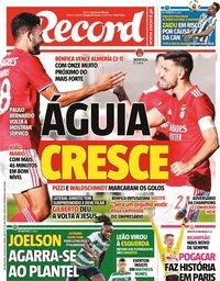 capa Jornal Record de 19 julho 2021