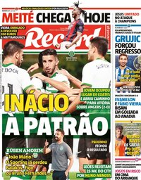capa Jornal Record de 21 julho 2021