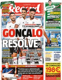 capa Jornal Record de 23 julho 2021