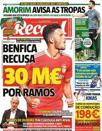 capa Jornal Record de 24 julho 2021