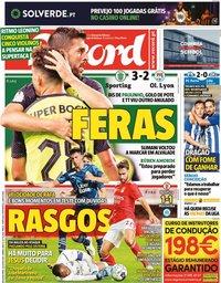 capa Jornal Record de 26 julho 2021