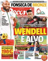 capa Jornal Record de 30 julho 2021