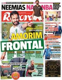 capa Jornal Record de 31 julho 2021