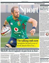 capa Jornal Telegraph Sport