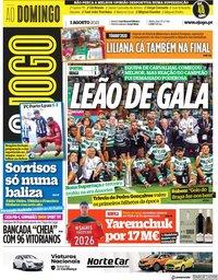 capa Jornal O Jogo de 1 agosto 2021