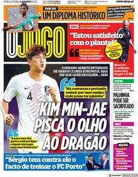 capa Jornal O Jogo de 3 agosto 2021