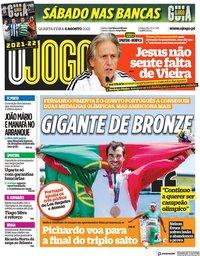 capa Jornal O Jogo de 4 agosto 2021