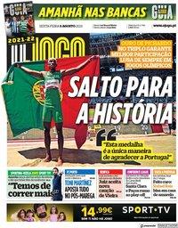 capa Jornal O Jogo de 6 agosto 2021
