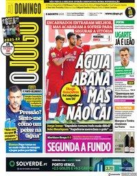 capa Jornal O Jogo de 8 agosto 2021