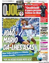 capa Jornal O Jogo de 10 agosto 2021