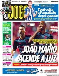capa Jornal O Jogo de 11 agosto 2021