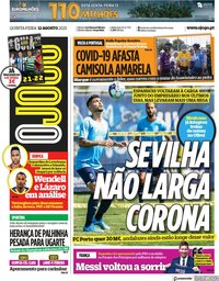 capa Jornal O Jogo de 12 agosto 2021