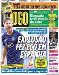 capa Jornal O Jogo de 17 agosto 2021