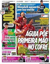 capa Jornal O Jogo de 19 agosto 2021