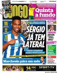 capa Jornal O Jogo de 20 agosto 2021
