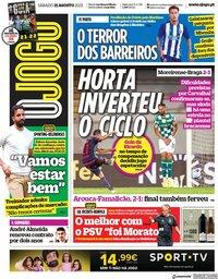 capa Jornal O Jogo de 21 agosto 2021