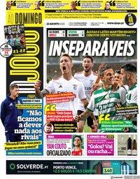 capa Jornal O Jogo de 22 agosto 2021