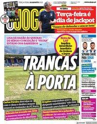 capa Jornal O Jogo de 24 agosto 2021