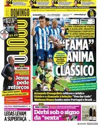 capa Jornal O Jogo de 29 agosto 2021