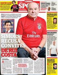 capa Correio da Manhã Sport de 11 setembro 2021