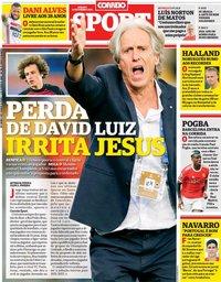 capa Correio da Manhã Sport de 18 setembro 2021