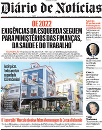 capa Diário de Notícias de 1 setembro 2021