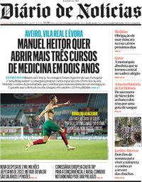 capa Diário de Notícias de 2 setembro 2021
