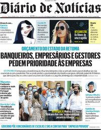 capa Diário de Notícias de 4 setembro 2021