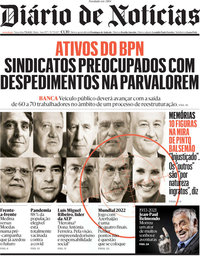 capa Diário de Notícias de 7 setembro 2021
