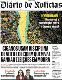 capa Diário de Notícias de 8 setembro 2021