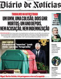 capa Diário de Notícias de 12 setembro 2021