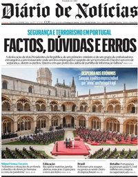 capa Diário de Notícias de 13 setembro 2021