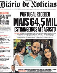 capa Diário de Notícias de 14 setembro 2021