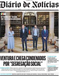 capa Diário de Notícias de 15 setembro 2021