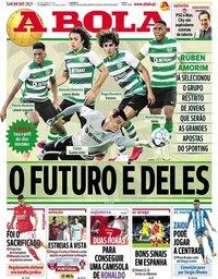 capa Jornal A Bola de 4 setembro 2021