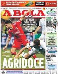 capa Jornal A Bola de 15 setembro 2021